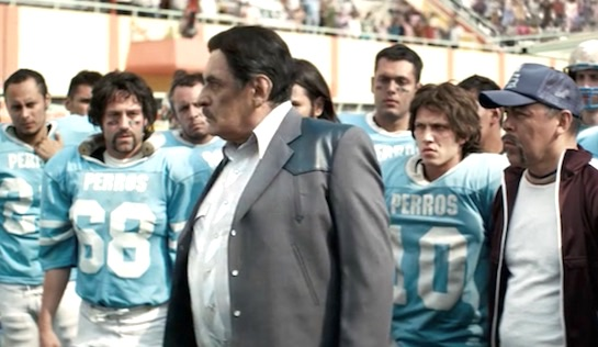 The 4th Company - Manuel Ojeda as Colonel Chaparro in front of the Dogs, including Andoni Gracia as Combate (68) and Adrián Ladrón as Zambrano (10)