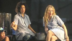 Bad Girls: The Musical #3 - Amanda Posener as Denny Blood and Nicole Faraday as Shell Dockley
