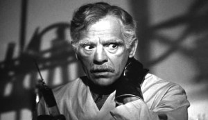 Before I Hang #3 - Boris Karloff as the new, darker-haired Dr John Garth after the serum has taken effect