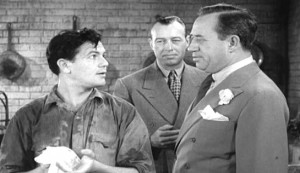 Blackwell's Island #3 - John Garfield as Tim Haydon, Norman Willis as henchman Mike Garth, and Stanley Fields as 'Bull' Bransom