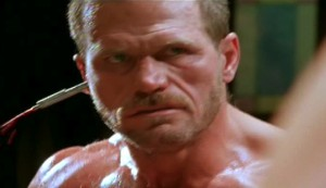 Bloodsport 4 - Stefanos Miltsakakis as Schrek, having been stabbed in the head with a pen