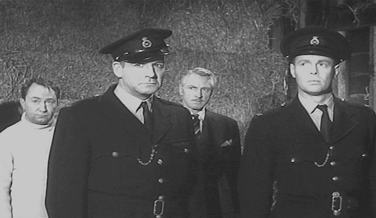 Clash by Night - Peter Sallas as Victor Lush, Robert Brown as Officer Mawsley, Alan Wheatley as Ronald Grey-Simmons, and Richard Carpenter as Officer Danny Watts