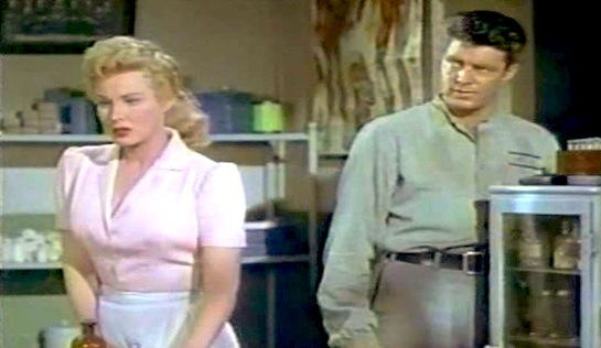 Devil's Canyon - Virginia Mayo as Abby Nixon and Dale Robertson as Billy Reynolds