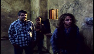 El Agujero #2 - The other prisoners including, at left, Pedro Altamirano as Hilario