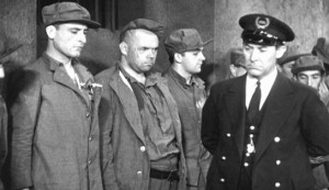 El Presidio #2 - José Crespo as John Morgan, Juan de Landa as Butch Smith, Tito Davison as Kent Marlowe and Giovanni Martino as Head Guard Wallace