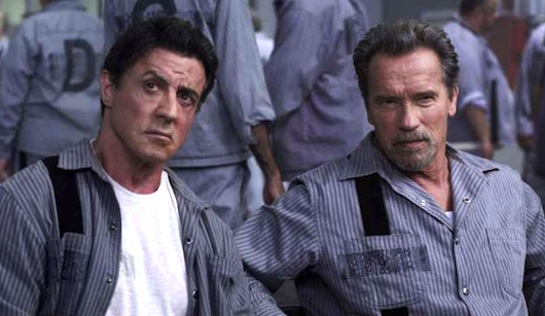Escape Plan - Sylvester Stallone as Ray Breslin and Arnold Schwarzenegger as Emil Rottmayer