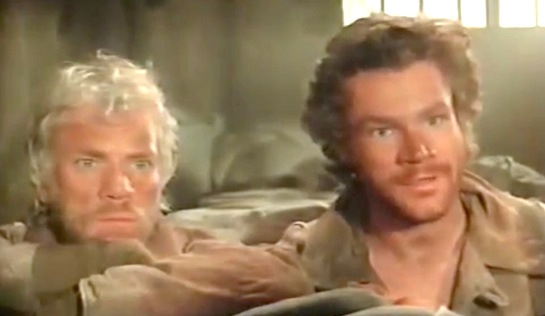 Galag - David Keith as Mickey Almon and Malcolm McDowell as 'The Englishman' Kenneth Barrington