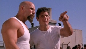 Hard Justice #1 - Jim Maniaci as Mr Clean and David Bradley as Nick Adams