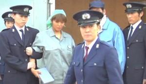 Hellcage: Inmate 611 Part 2 #3 - Harumi Nemoto as Reika Wada escorted away, with