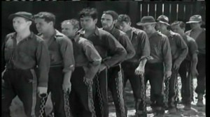 Hell's Highway #2 - The Chain Gang, with Duke Ellis (Richard Dix)  fourth from left and Matthew (Chas. Middleton) behind him