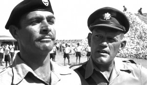 The Hill #3 - Sean Connery as Joe Roberts and Harry Andrews as RSM Wilson - with The Hill in the background