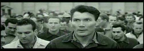 House of Numbers - Jack Palance as Bill Judlow, finding his way in San Quentin