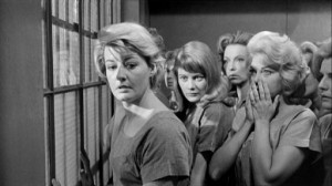 House of Women #3 - Sophie Brice (Constance Ford, left, just after watching her son fall to his death), with Erica Ford (Shirley Knight) and Candy Kane (Barbara Nichols)