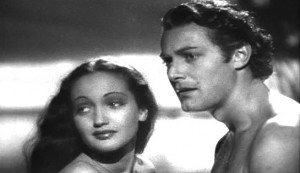 The Hurricane - Dorothy Lamour as Marama and Jon Hall as Terangi