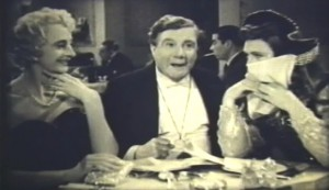 Jailbirds #3 - Charles Hawtrey and Albert Burdon in drag, flanking Shaun Glenville as Colonel Pepper