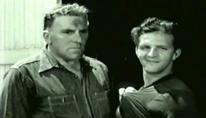 Johnny Holiday #3 - William Bendix as Sgt Walker and Stanley Clements as Eddie Duggan
