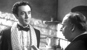 Kind Hearts and Coronets - Dennis Price as Louis D'Ascoyne Mazzini and Miles Malleson as Elliott, the hangman