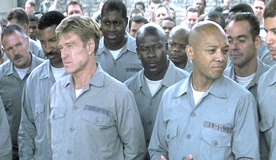 The Last Castle - Robert Redford as General Eugene Irwin and Paul Calderón as Dellwo