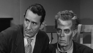The Man Who Turned to Stone #3 - Victor Jory as Dr Murdock and Friedrich von Ledebur as an ailing Eric
