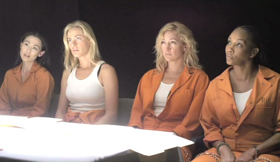 Mercenaries - Nicole Bilderback as Mei-Lin Fong, Kristanna Loken as Kat Morgan, Zoë Bell as Cassandra Clay, and Vivica A Fox as Raven