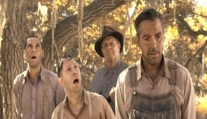 O Brother, Where Art Thou? #3 - Pete (John Turturro), Delmar (Tim Blake Nelson) and Everett (George Clooney) in another tight spot