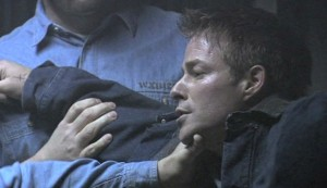 Passion's Web #3 - Sebastian Spence as Robert Moss, in the process of being beaten up