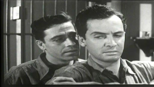 Prison Mutiny - Jack La Rue as Cain and cellmate Johnny Gray (Edward Norris)