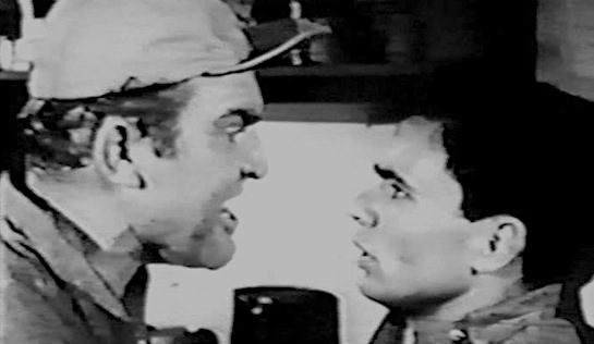 Revolt in the Big House - Gene Evans as Lou Gannon and Robert Blake as Rudy Hernandez
