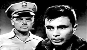 Revolt in the Big House - unknown guard and Robert Blake as Rudy Hernandez