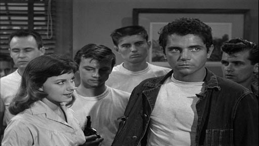 Riot in Juvenile Prison - a bunch of rioters, including Virginia Aldridge as Kitty and Scott Marlowe as Eddie Bassett
