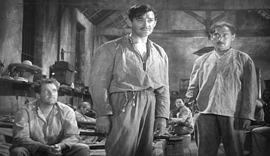Strange Cargo - Ian Hunter as Cambreau (seated), Clark Gable as Verne and Paul Lukas as Hessler