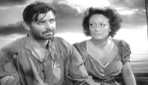 Strange Cargo #3 - Clark Gable as Verne and Joan Crawford as Julie, at sea