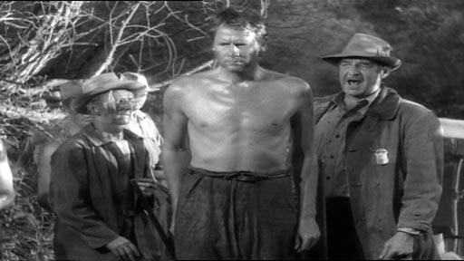 Sullivan's Travels - a barechested Joel McCrea as John L Sullivan and Al Bridge (right) as gang boss Jake 'The Mister'