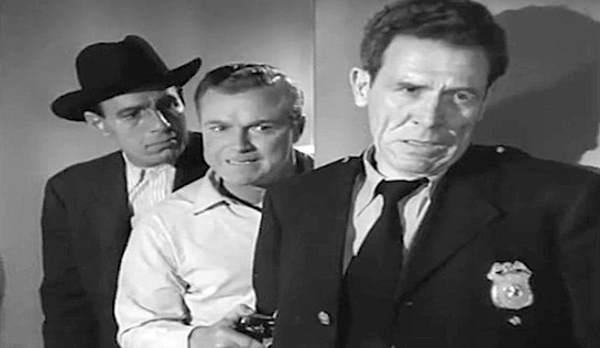 Train to Alcatraz - Iron Eyes Cody as Geronimo, Don 'Red' Barry as Doug Forbes and Kenneth MacDonald as Guard Reeves