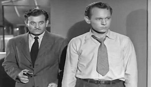 Train to Alcatraz #3 - Milburn Stone as Bart Kanin and William Phipps as Tommy Calligan
