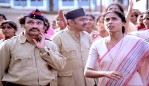 Umbartha #2 - Smita Patil as Superintendent Sulabha Mahajan with her staff and prisoners