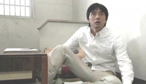 Vacation #2 - Hidetochi Nishijima as a frightened Shinichi Kaneda, on officers arriving to take him to his execution