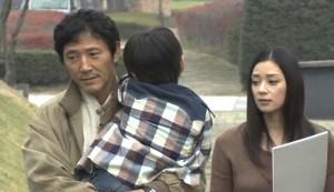 Vacation #3 - Kaoru Kobayashi as Toru Hirai carrying Tatsuya, and Nine Otsuka as Mika