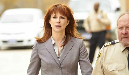 A Warden's Ransom - Diane Neal as Warden Samantha Brandtt and Tom Anniko as Head Guard Davis