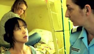 Way Back Home #2 - Jeon Do-yeon as Song Jeong-yeon, Joanna Kulig as Yalka (on bunk) and Corrine Maserio as Hellboy