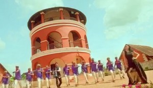 Welcome to Central Jail #5 - a song and dance routine in front of the magnificent Tower of the Poojappura Central Jail