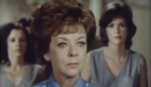 Women in Chains #2 - Ida Lupino as Chief Matron Claire Tyson, with Jessica Walter as Dee at rear right