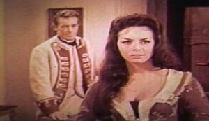 Women of Devil's Island #3 - Captain Henri Vallière (Guy Madison) and Martine Foucher (Michèle Mercier)