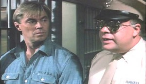 Zombie Death House #2 - Dennis Cole as Derek Keillor and Howard George as a healthier Head Guard Raker
